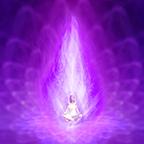 la flamme violette ou flamme de transformation de protection de liberté et de pardon
